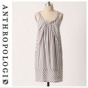 💕SALE💕 Anthropologie Gray White Striped Dress